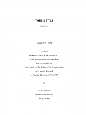 PhD Thesis Template example page